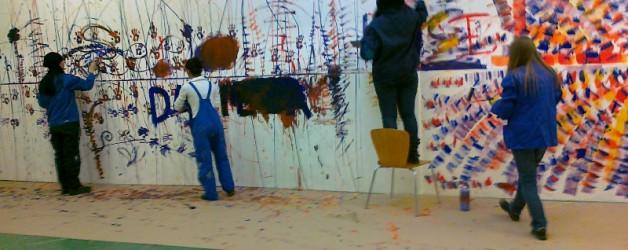 Wände bemalen mit Jugendlichen